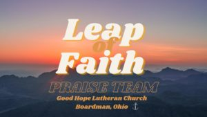 Leap of Faith Rehearsal @ Sanctuary